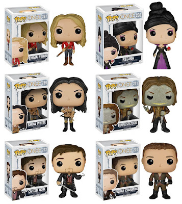 Once Upon A Time Pop! Vinyl Figure Series by Funko - Emma Swan, Regina, Snow White, Rumplestiltskin, Captain Hook & Prince Charming