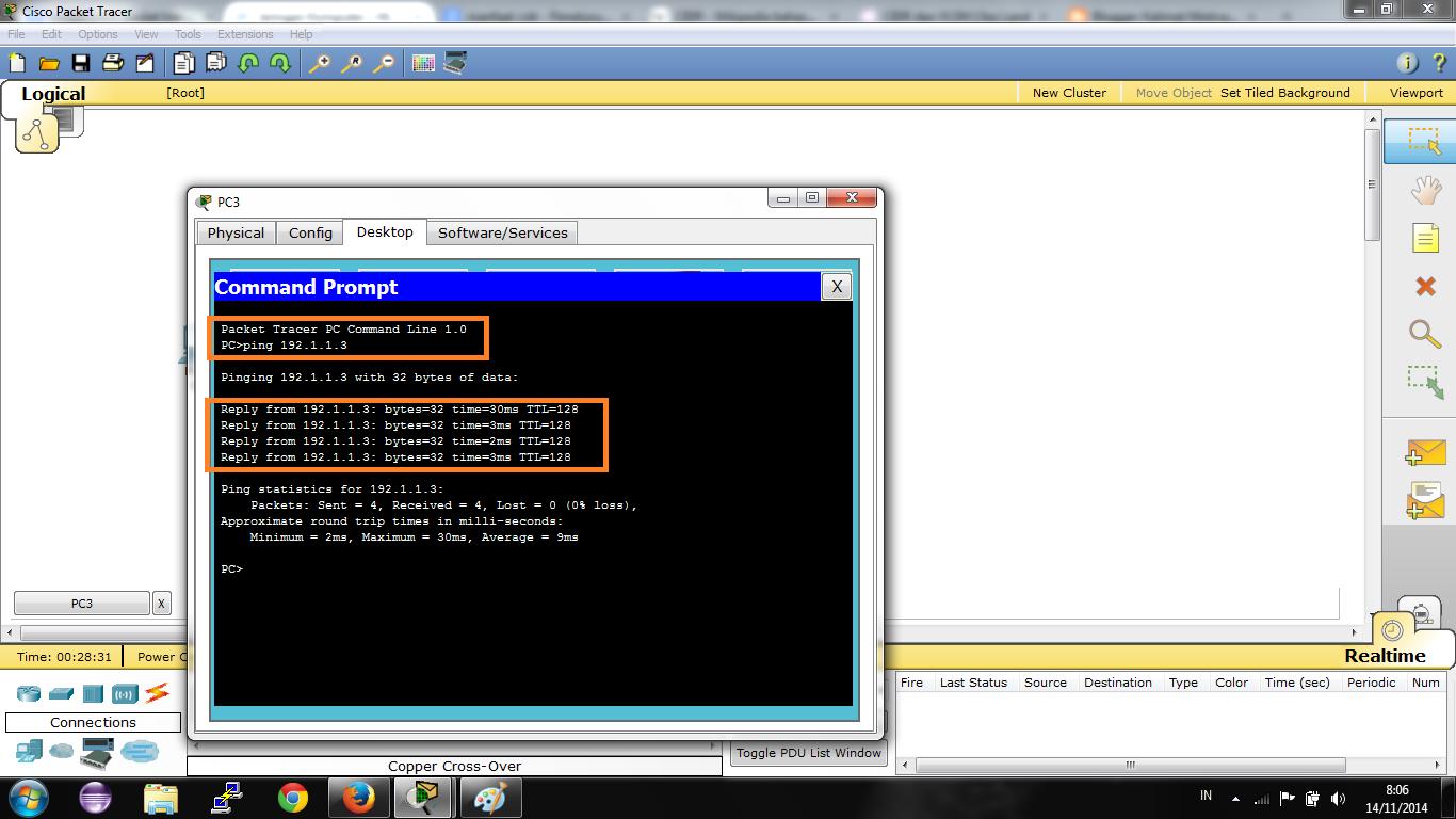 Simulasi Ping PC Menggunakan Packet Tracer