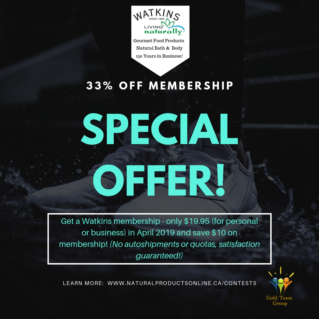 April Special - 33% off Watkins Membership!