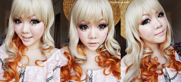 ash blonde brown dolly wig