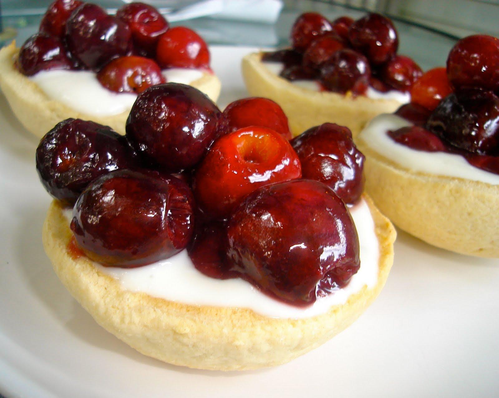 Cherry Sugar Cookie Tarts