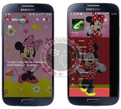BBM Mod Minnie Mouse Themes New Versi 2.11.0.18 APK
