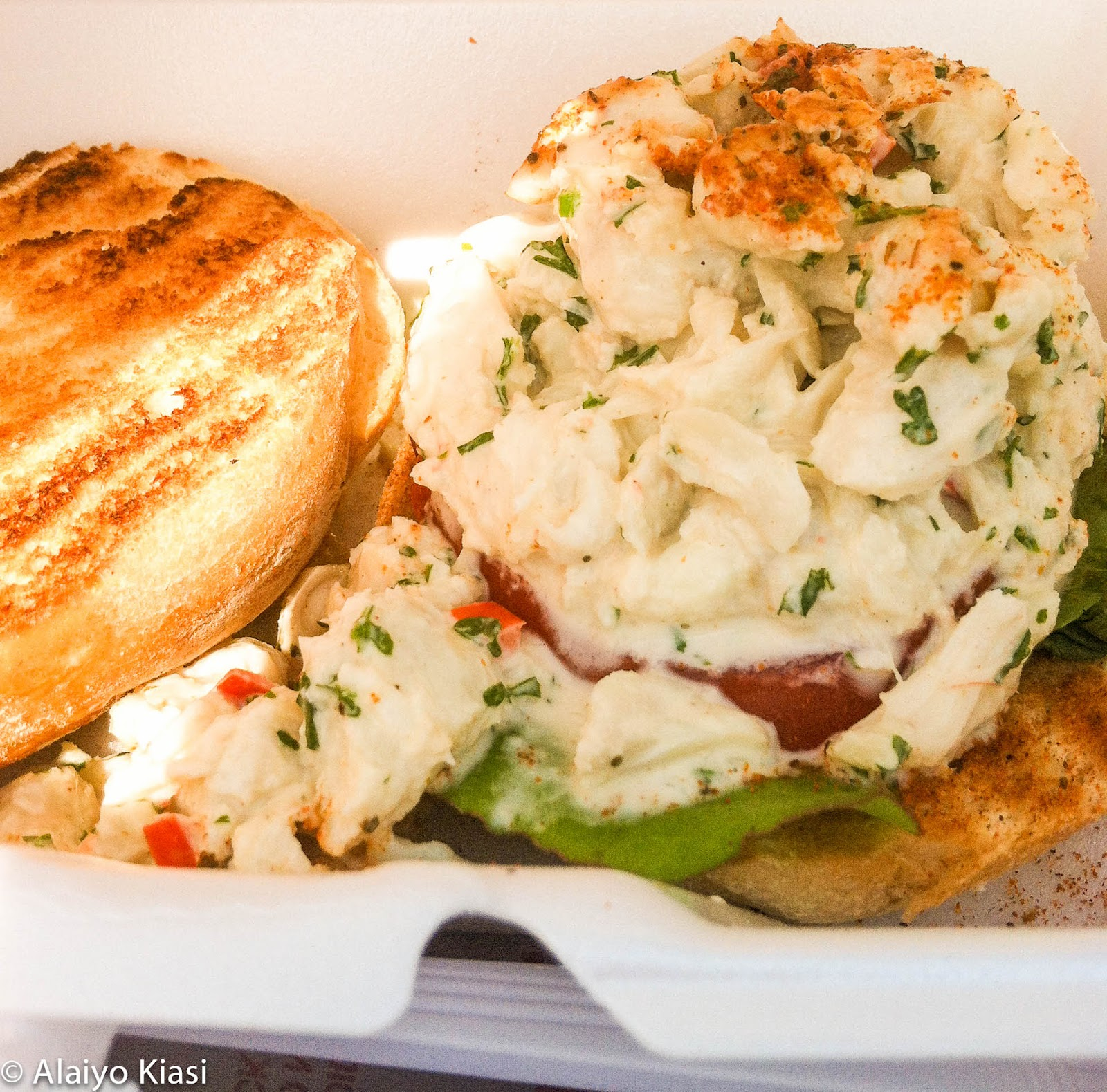 "Crab Sandwich from ""Feelin' Crabby"" Food Truck"