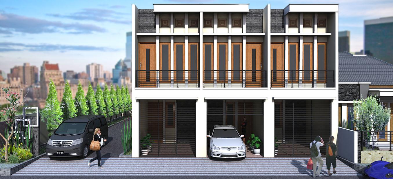 Desain Rumah Kost Minimalis 2 Lantai Modern