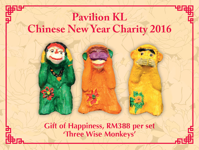 Gift of Happiness three wise monkeys @ RM388, Pavilion KL Charity Drive