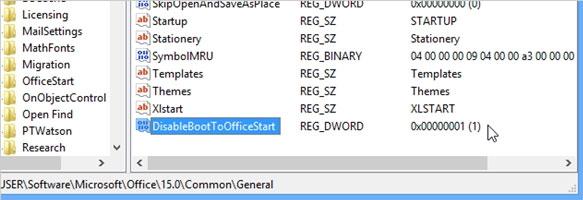 Tắt màn hình Start Screen Office 2013 7