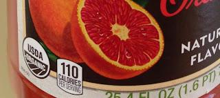 USDA Organic Seal in drinks