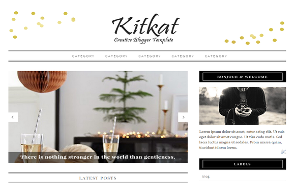 KitKat Blogger Template
