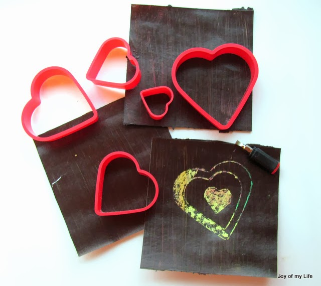 Make Your Own Scratch Heart Valentines