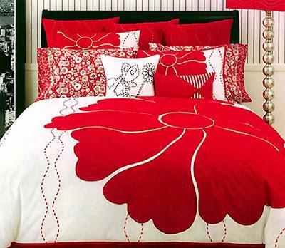 decoração quarto de casal vermelho