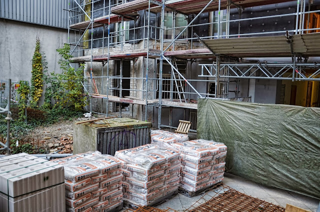 Baustelle Passauer Straße, Übergang Ka De We zum Parkhaus, 10789 Berlin, 18.10.2013