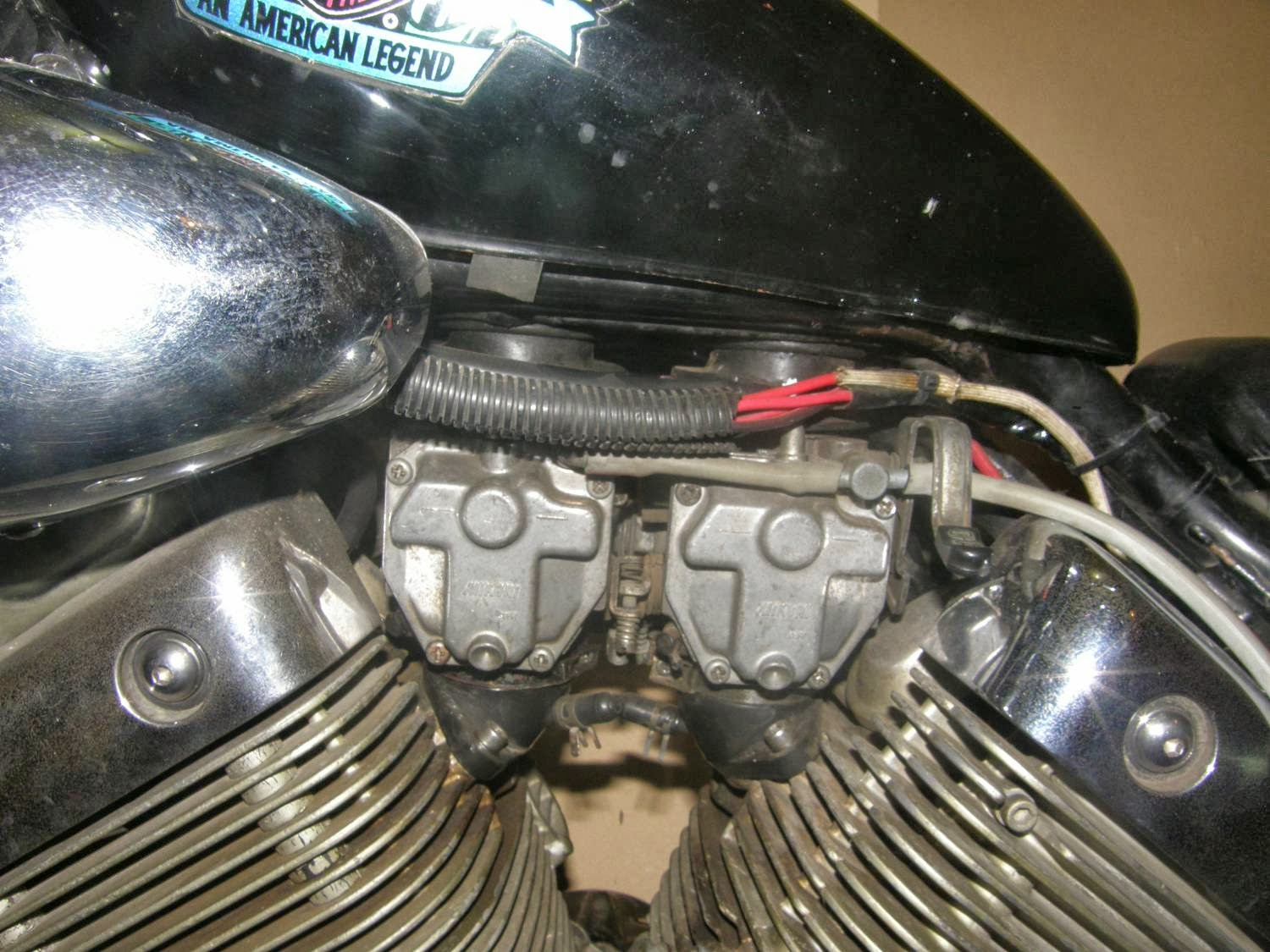 Virago Xv400 Parts Pics And Contacts Yamaha 535 Xv500k Color Wiring Schematic This Is The Model With Fuel Tank Under Seat A False On Top That Serves As Air Filter