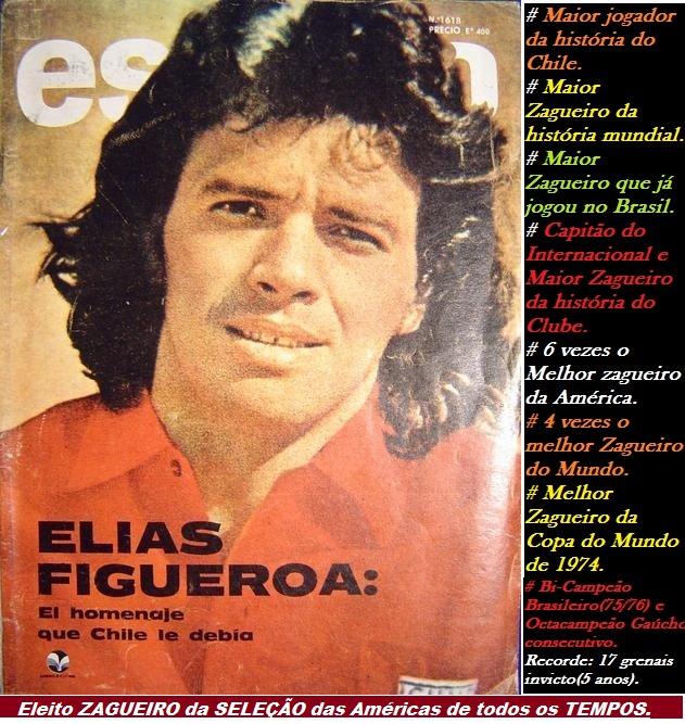 """ELIAS RICARDO FIGUEROA BRANDER: """"ELEITO O MAIOR ZAGUEIRO DA AMÉRICA DE TODOS OS TEMPOS"""".."""