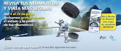 Revisa los neumáticos gratis y llévate de regalo un mapa de carretera Michelin