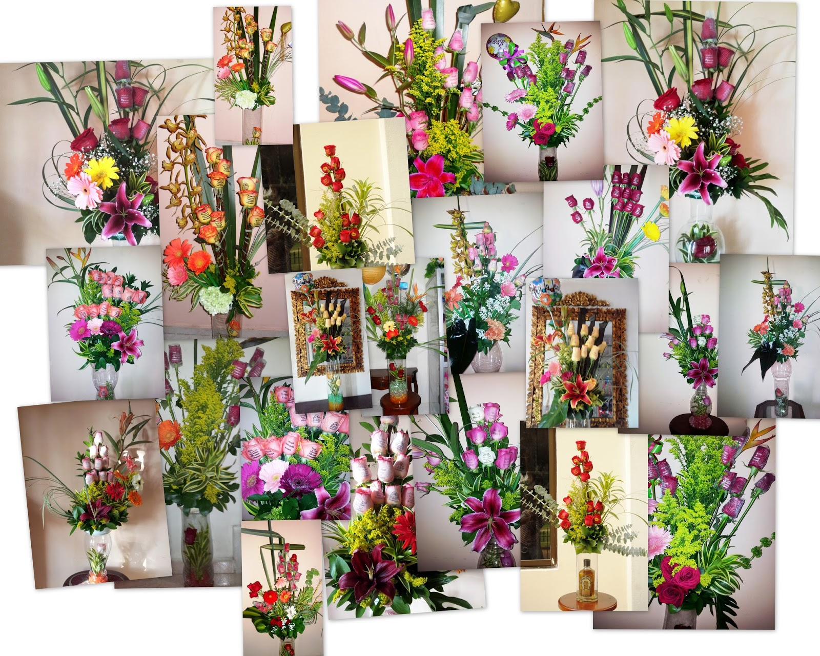 Arreglos florales en jarrones de vidrio fiori bella colombia for Jarrones de vidrio decorados