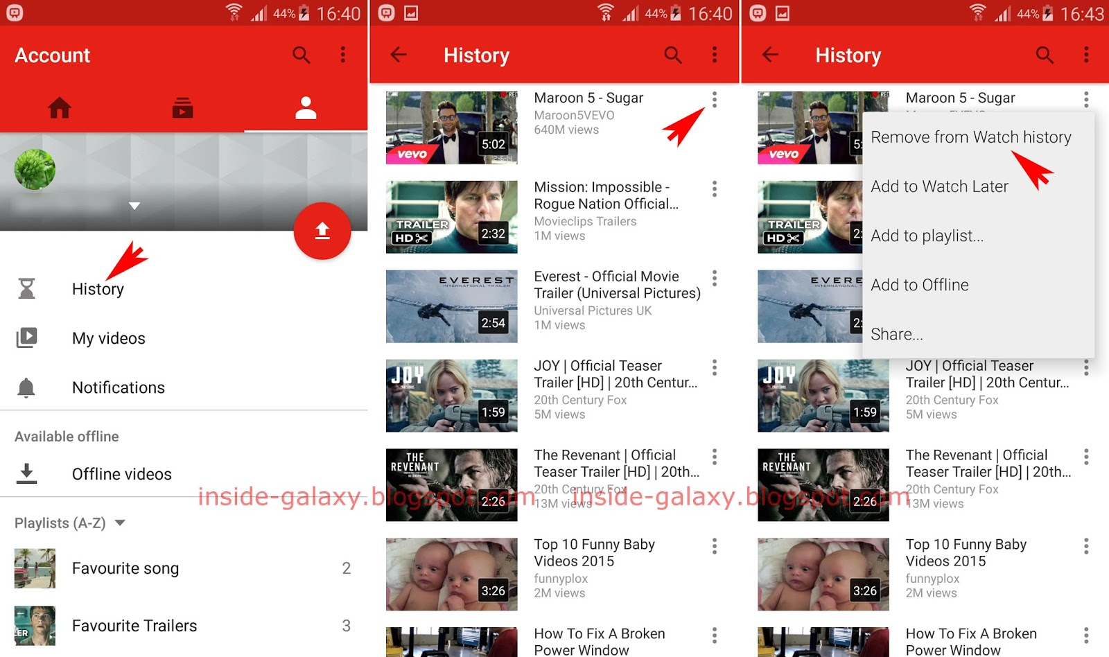 Samsung galaxy s4 how to remove videos from watch history in method 1 from the watch history menu within the youtube app you can easily delete a single or all videos from watch history while youre signing in with a ccuart Image collections