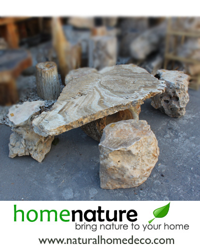 COFFEE TABLE SET NATURAL STONE