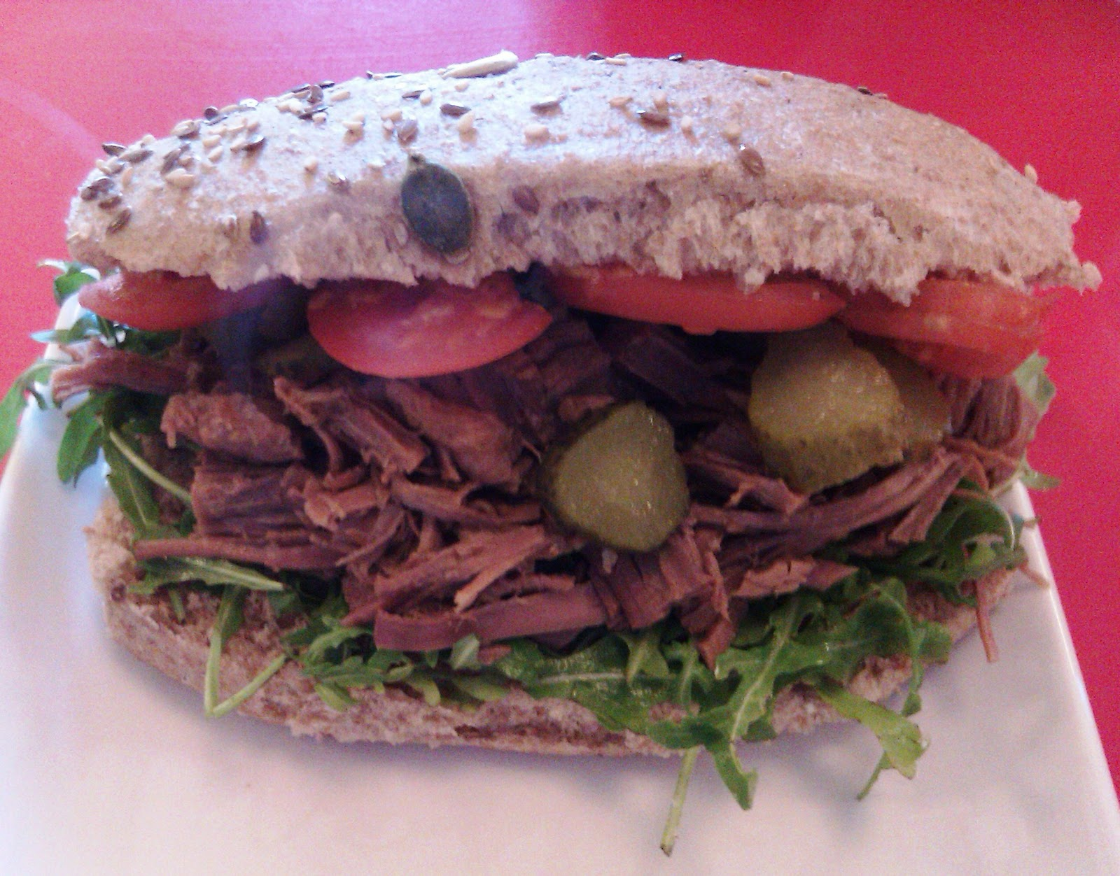 I Opted For The Hot Salt Beef Sandwich A Steal At Only 3 50 As It Was A Monster A Good Monster It Was Generously Packed With Salty Juicy Chunks Of