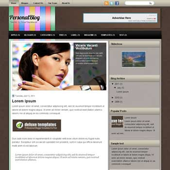 PersonalBlog blogger template. template blogspot magazine style. download simple magazine style blogger template