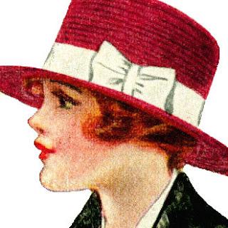 Scrapbooking Vintage Hat Image