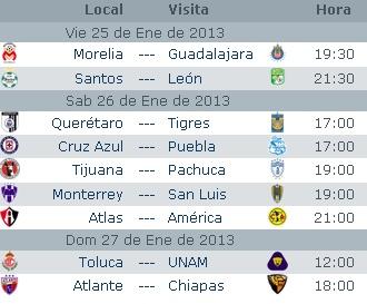 Calendario | Fase Regular Jornada 15 | Clausura 2016