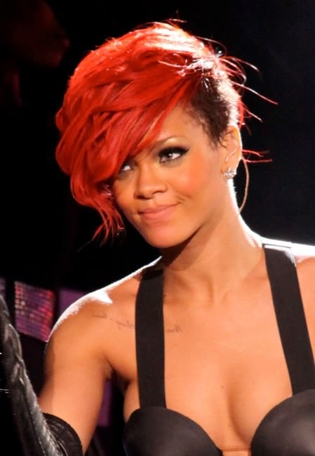 rihanna redhair