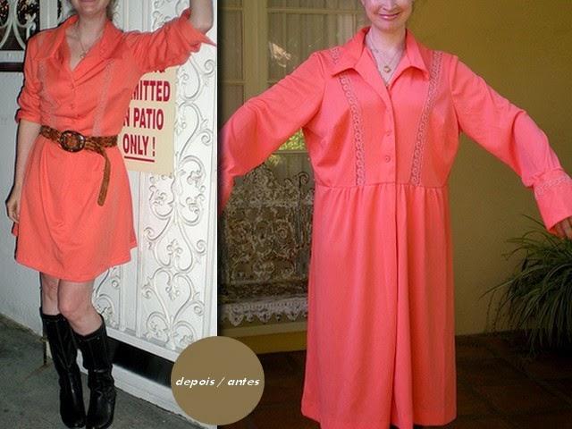 Inspiração: encurtar e ajustar vestido - customização feita por uma criativa de moda e estilo.