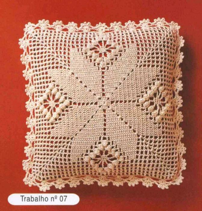 Idéias para crochetar: Dois modelos de Almofada em Crochê!!!!