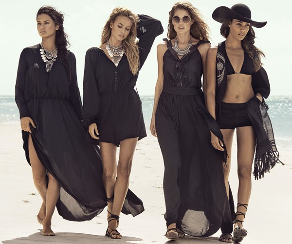 H&M mujer verano faldas largas negra vestido mono corto y short