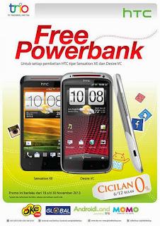 Promo HTC free Power Bank