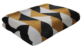 happy habitat modern graphic cotton eco blanket