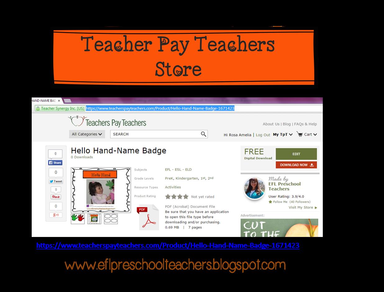Eslefl Preschool Teachers Greetings And Introductions