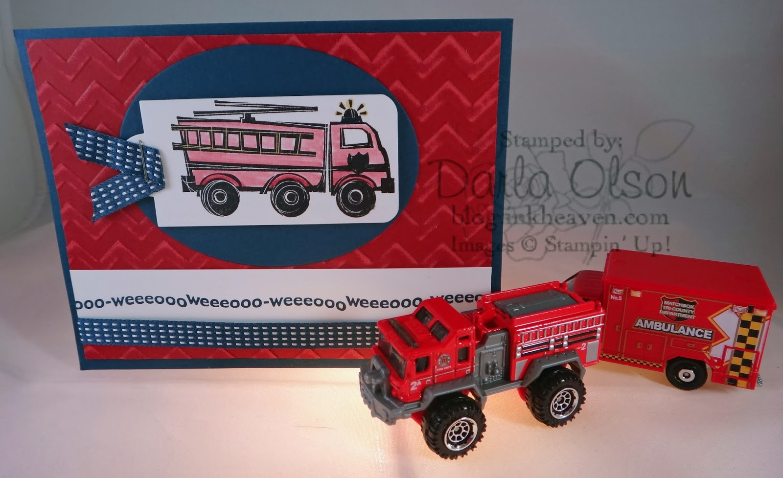 DIY Fire Truck Valentine