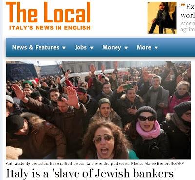 ΙΤΑΛΙΑ: «Η Ιταλία είναι σκλάβα των Σιωνιστών τραπεζιτών»