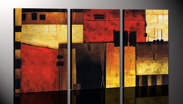 Decoraci n minimalista y contempor nea cuadros de arte for Comprar cuadros grandes baratos