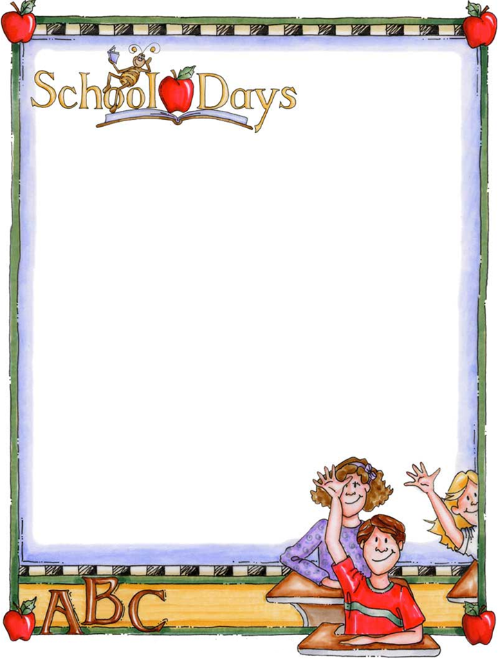 Free download back to school bulletin board writing paper template ...