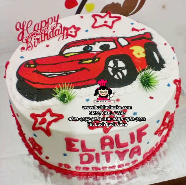 Kue Tart Cars Buttercream Transfer Daerah Surabaya - Sidoarjo