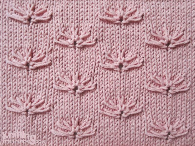 Cornflowers Knitting Stitch Patterns