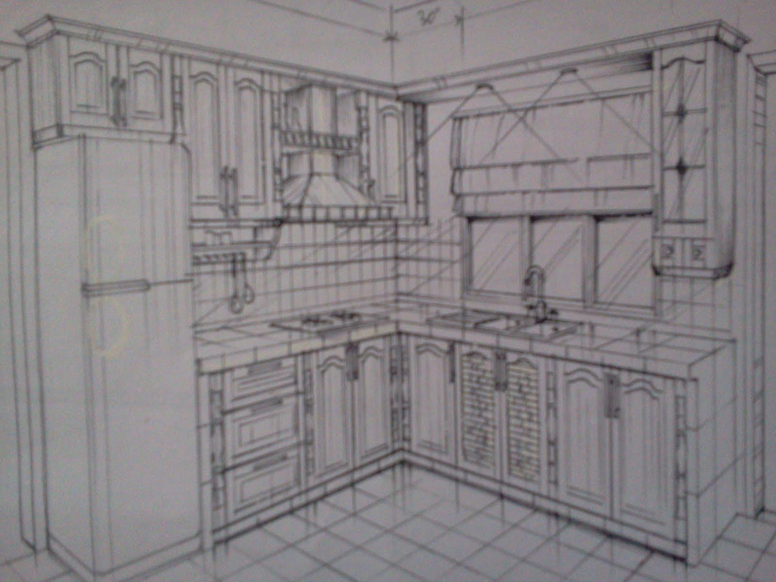 Bayu timber hasni furniture concept contoh lakaran for Furniture dapur