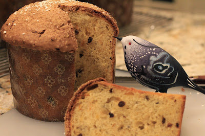 A slice of panettone