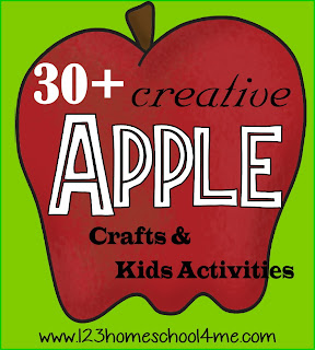 30 Apple Crafts and Kids Activities for September