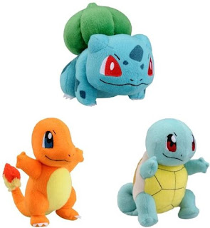 Pokemon Bulbasaur Charmander Squirtle Plush Tomy