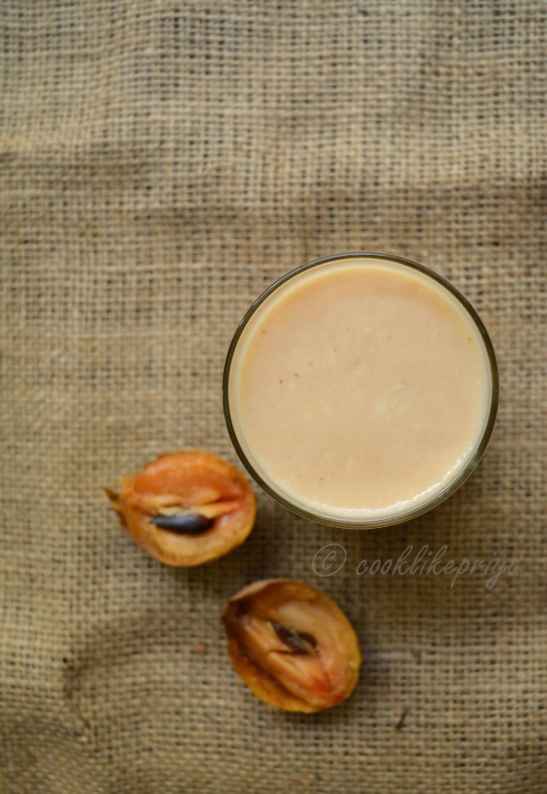 Sapotta Milkshake Recipe