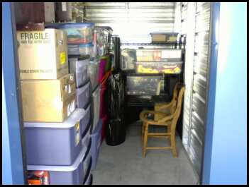 This is my storage unit (5x10... well almost) after three trips with my Jeep. u003d) Still room on those shelves for the stuff Iu0027m still working on here. & Delusions of Domesticity: August 2012