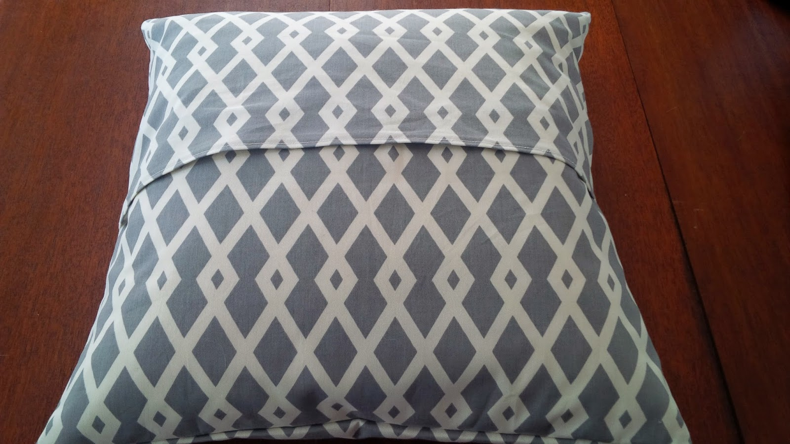 The square front of each pillowcase should be the size of the pillow form plus one inch. For a 20\