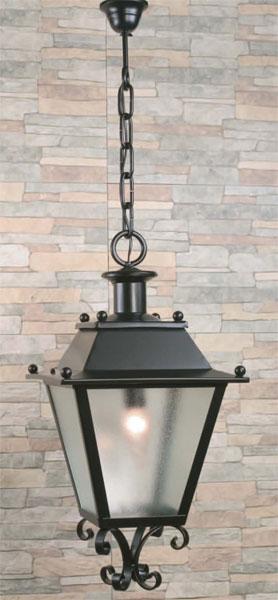 Muebles de forja l mparas tipo farol en forja for Lamparas para iluminar patios