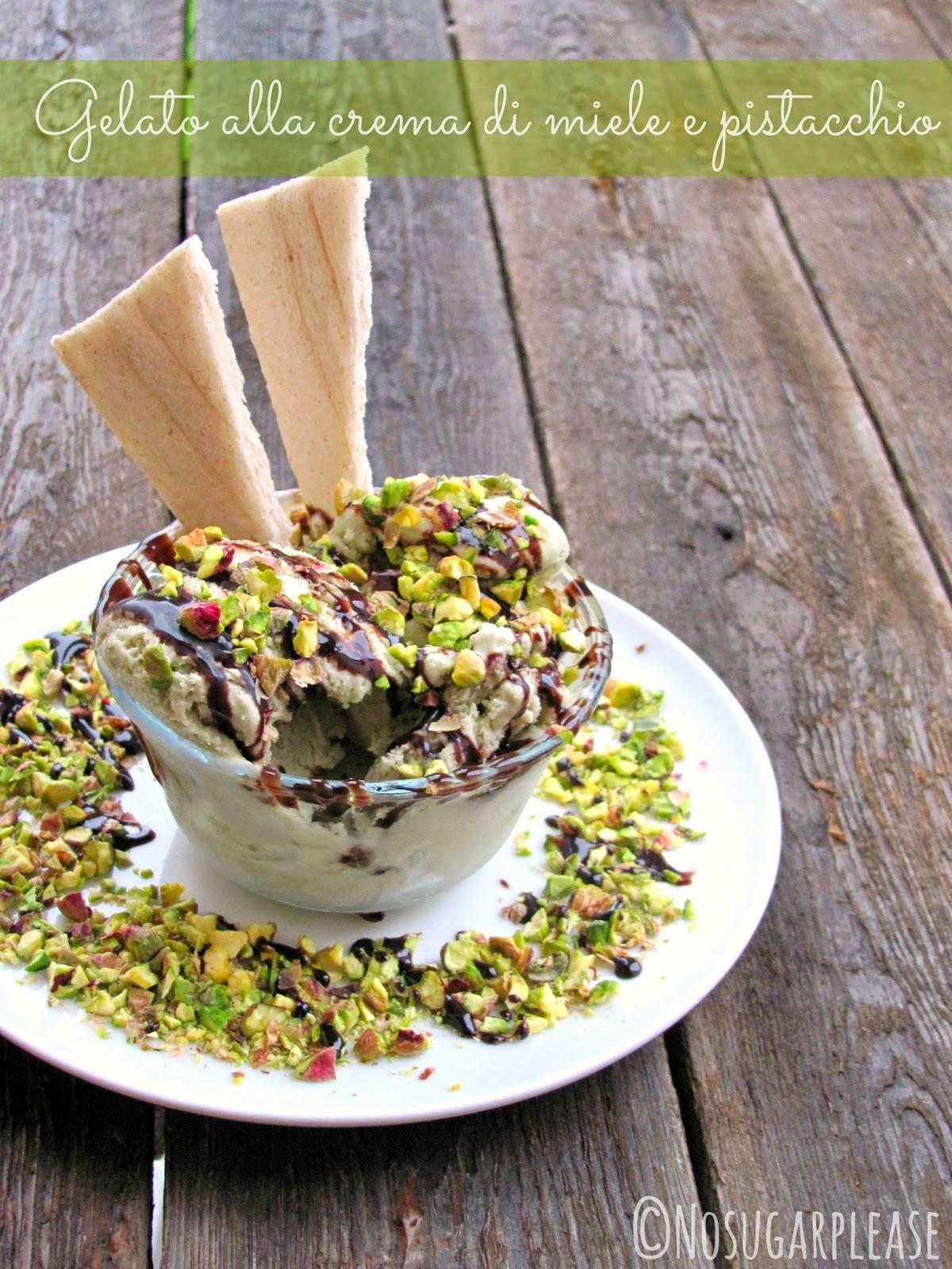 gelato al pistacchio senza zucchero