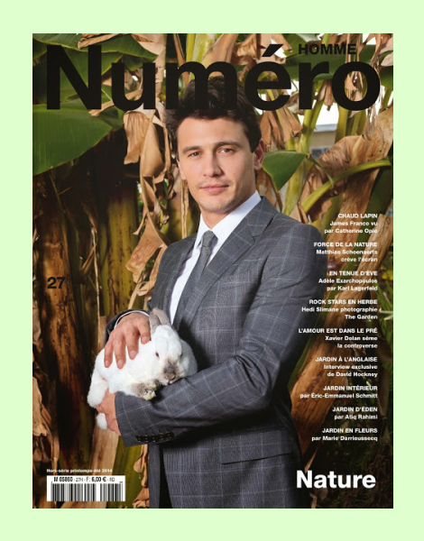 James Franco covers Numéro Homme No.27