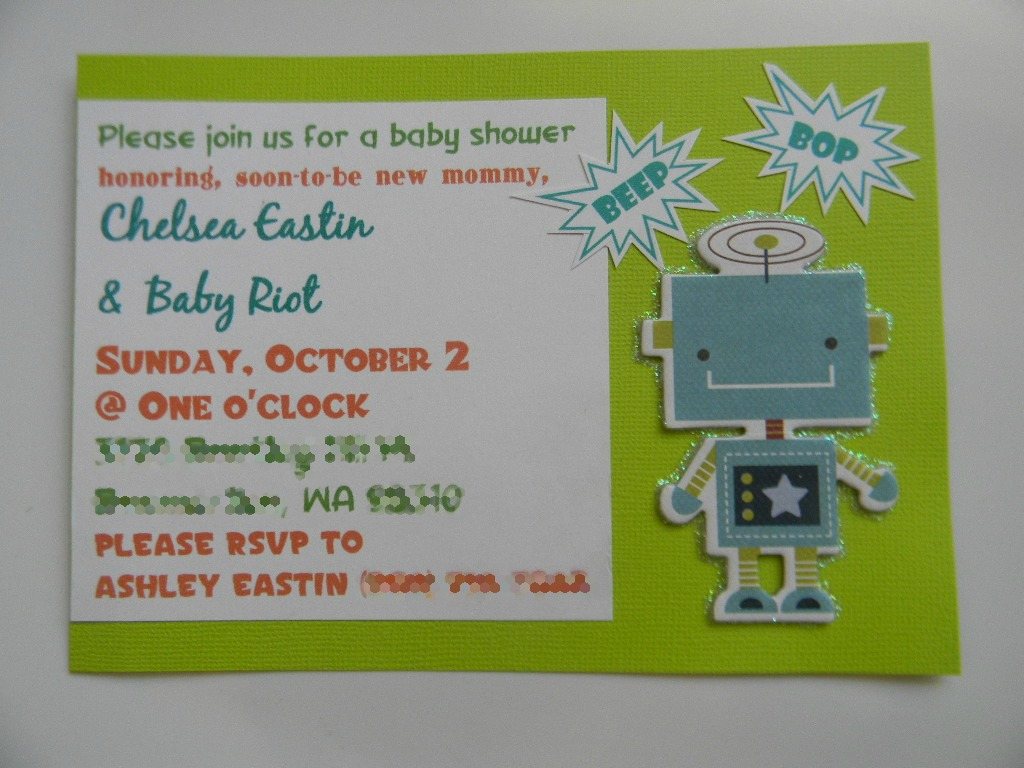 from dahlias to doxies robot baby shower invitations
