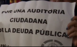 Presentacin de la Mocin por la Auditoria Ciudadana de la Deuda en el Ayuntamiento de Alicante